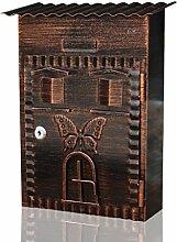 CJH Retro Villa Garten Mailbox Mit Schloss Wand Im Freien Briefkasten Kreative Mailbox Cam Lock Home Mailbox
