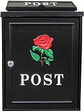 CJH Rote Rose Europäischen Villa Postfach Mail Post Post Regen Große Große Garten Wand Wasserdichte Kreative Briefkasten