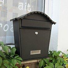 CJH Villa Mailbox Outdoor Mailbox Europäischen Wand Schmiedeeisen Kreative Outdoor Wasserdicht Locker Box Einfache Wandbehang