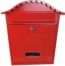 CJH Villa Mailbox Outdoor Mailbox Europäischen Wand Schmiedeeisen Kreative Outdoor Wasserdicht Locker Box Einfache Wandbehang Ro