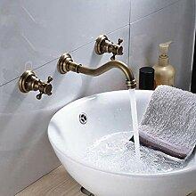 CJK Wasserhahn Wand Messing Waschbecken Wasserhahn