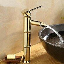 CJK Wasserhahn Wasserhahn Goldener Bambus Bad