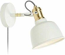 CJK2H Wandlampe Metallic weiß E14 Lampenfassung