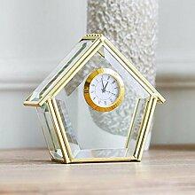 CJSHV-Tischuhren innotime goldene Uhr wecker