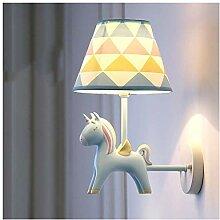 CJW Kinderzimmer Mädchen Wandlampe Einhorn LED