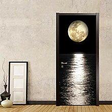 CJZYY 3D-Tür-Wandbild mit Meeresansicht und