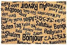 CKB LTD® Bonjour, AU Revoir Novelty Doormat