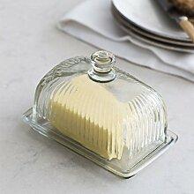 CKB Ltd® Glas Butterdose Mit Deckel Halter