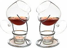 CKB Ltd® Set of 2 Brandy & Cognac Snifter Warmer