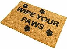 CKB Ltd® Wipe Your Paws Novelty Doormat