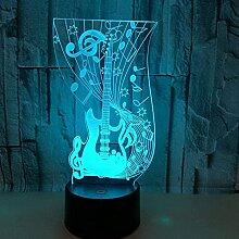 Ckssyao Lampe am Schreibtisch Gitarre LED Licht