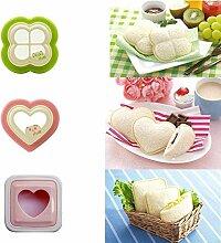 Clarashop Sandwich Cutter, DIY Kekstoast Sandwich