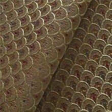 Clarice 'CBI Kugelbinse Small Shell': Braun flat-weave Polstermöbel Sofa Kissen Flammschutzmittel Stoff Material aus loome Stoffe, Clarice 'Bullrush Small Shell' : Brown, per metre