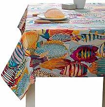 Clary Elephant Tischdecke Bunt mit Muster