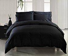 Classic 1Stück Bett Rock Comfort 350TC schwarz Stripe Euro Large Single 100% ägyptische Baumwolle extra tief Pocket (22Zoll)–von TRP Blatt–B2
