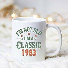 Classic 1987 personalisierte Geburtstag Keramik