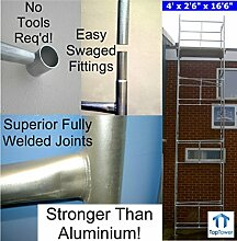 Classic 6.86m DIY Galvanised Scaffold Tower & Boards (22'6 x 4' x 2'6 Base) by Toptower