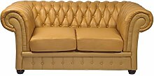 Classic Chesterfield Sofa 2 Sitzer caramel