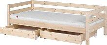 Classic - Einzelbett  - 200 cm mit 2 Schubladen -
