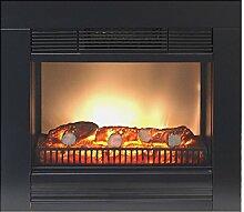 Classic Fire - Elektrischer Kamin Elektrokamin 1800W Kamin Ofen mit Feuereffekt Heizung Heizlüfter Radiator Schwarz