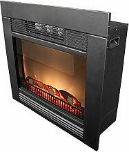 Classic Fire - LED Elektrokamin 1800W Elektrischer Kamin Einbaukamin Ofen mit patentiertem Feuereffekt simuliertes Kaminfeuer Heizung Heizlüfter Radiator Schwarz