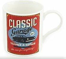 Classic Garage Auto rot Retro Tasse in Geschenkbox