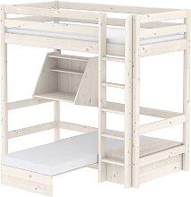 Classic - Hochbett mit Sofabett - 140x 200 cm - Weiß