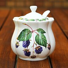Classic Jam Pot and Spoon - Blackberry by Redwood