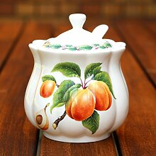 Classic Marmeladendose und Löffel, Aprico