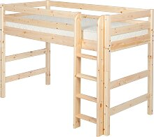 Classic - Mittelhohes Bett mit Leiter - 190 cm - Natur