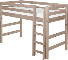 Classic - Mittelhohes Bett mit Leiter - 190 cm - Terra