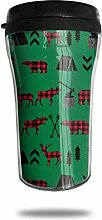 Classic Travel Mug Woodland Elch Bär grün