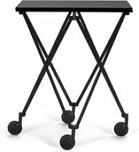 ClassiCon - Sax Rolltisch, schwarz / HPL schwarz