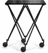 ClassiCon - Sax Rolltisch, schwarz / Kristallglas
