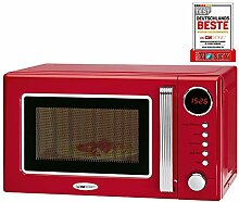 Clatronic Retro-Mikrowelle mit Grill MWG 790 rot,