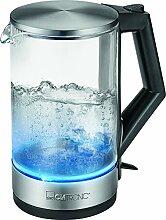 Clatronic WKS 3641 G Glas-Wasserkocher mit blauer