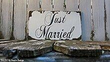 Claude16Poe Just Married Schilder Hochzeit