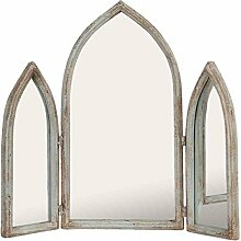 Clayre & Eef 52S101 Spiegel Wandspiegel klappbar ca. 58 x 10 x 55 cm
