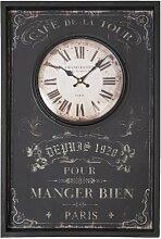 Clayre & Eef 5KL0019 Nostalgie Uhr Wanduhr schwarz antik PARIS