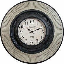 Clayre & Eef 5KL0046 Uhr Wanduhr schwarz ca. Ø 75 x 8 cm