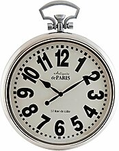 Clayre & Eef 5KL0053 Uhr Wanduhr silberfarbig ca. 51 x 7 x 64 cm