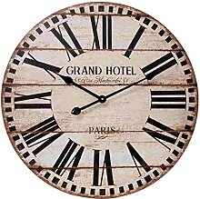 Clayre & Eef 5KL0063 Uhr Wanduhr GRAND HOTEL ca. Ø 60 x 5 cm