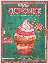 Clayre & Eef 62830 Dekoration Deko Schild Wandschild Cupcake ca. 30 x 40 cm