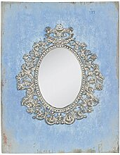Clayre & Eef 62S013 Spiegel Wandspiegel blau ca. 23 x 30 cm