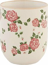 Clayre & Eef 6CEMU0021 Becher Tasse ohne Henkel Blumen ca. Ø 6 x 8 cm