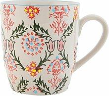 Clayre & Eef 6CEMU0041 Tasse Becher Kaffeetasse Teetasse mehrfarbig ca. Ø 8 x 9 cm