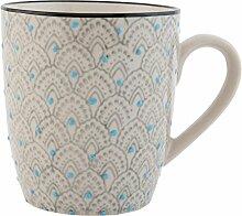 Clayre & Eef 6CEMU0042 Tasse Becher Kaffeetasse Teetasse mehrfarbig ca. Ø 8 x 9 cm