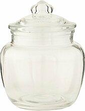 Clayre & Eef 6GL1172 Topf Vorratsglas transparent