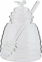 Clayre & Eef 6GL1509 Honigglas Honig Glas Topf ca.