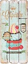 Clayre & Eef 6H0951 Deko Dekoration Schild Textschild Cupcake ca. 34 x 15 cm